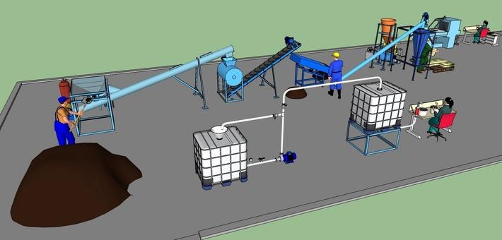 Минизавод производства сапропеле-торфяной продукции