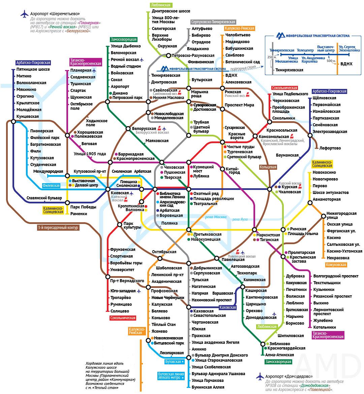Схема станции добрынинская