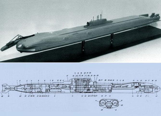 транспортная подводная лодка проекта 717
