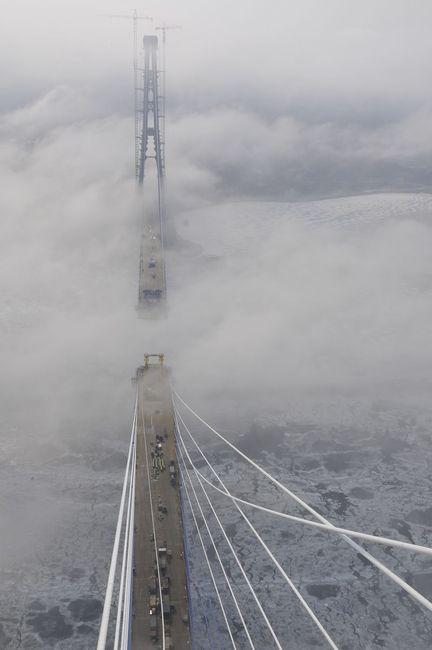Пилон моста на о. Русский