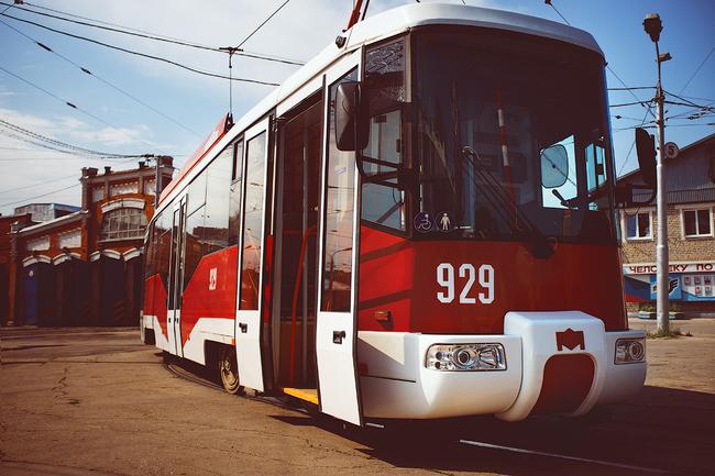 Восемь трамваев нового поколения впервые вышли на линию в Самаре