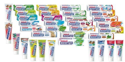 Зубные пасты «Новый Жемчуг»
