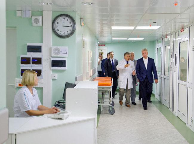 Мэр Москвы осмотрел новый корпус детской городской клиническ…