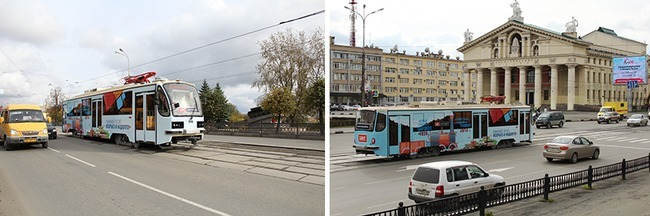 Трамвай с автономным ходом на улицах Нижнего Тагила
