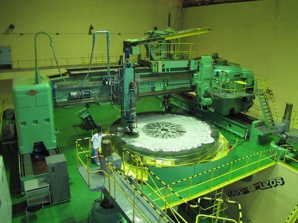 Шлифовка Главного зеркала БТА на автоматизированном станке КУ-168 АПД