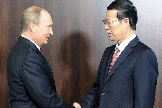Президент России Владимир Путин и первый заместитель премьера Госсовета КНР Чжан Гаоли