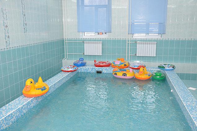 бассейн в новом детском саду Первомайского оайона Новосибирска