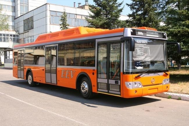 """На ЛиАЗе запущено производство низкопольных газовых автобусов стандарта """"Евро-5+"""""""