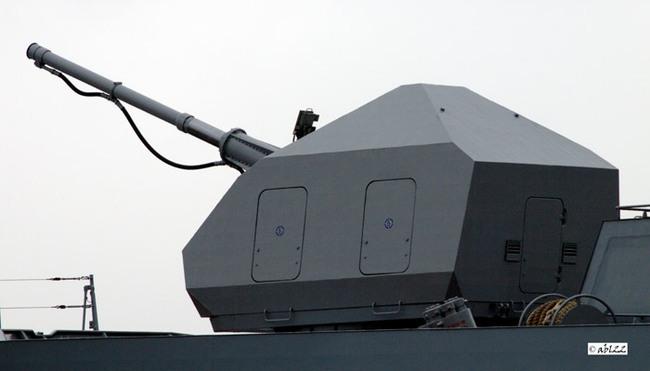 "Установка А-190-01 на СКР ""Стерегущий""."
