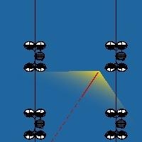 Вот так оптические модули фиксируют пролетающую частицу