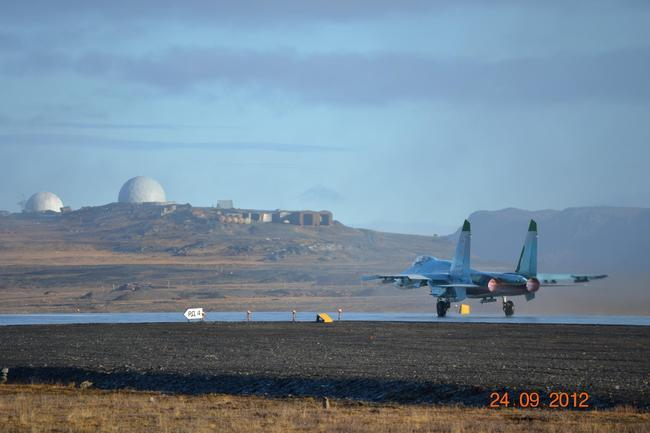 Су-27 на Новой Земле