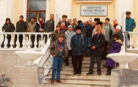 После выполнения зимней работы группа возвращается в институт ядерной физики в Дубне