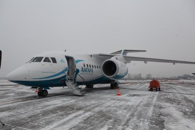 """первый самолет АН-148, поставленный в лизинг в рамках программы """"Модернизация парка региональных воздушных судов. Аэропорт """"Иркутск"""" (30 октября 2012 года)"""