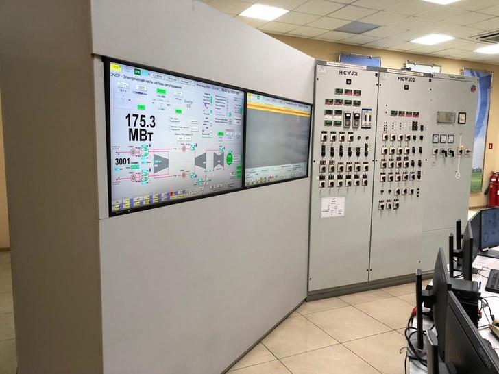 Щит управления энергоблока Красноярской ТЭЦ-3 с новым генератором