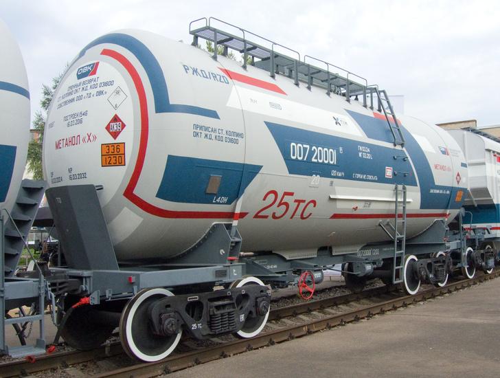 Вагон-цистерна модели 15-6880 для перевозки метанола