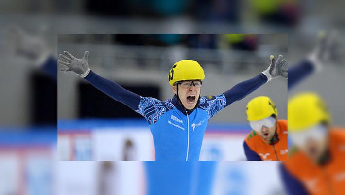 Семен Елистратов завоевал золотую медаль на дистанции 1000 м на проходящем в турецком Эрзуруме последнем этапе Кубка мира по шорт-треку