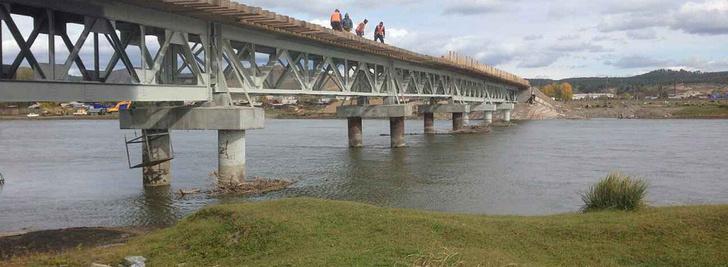 В Бурятии откроют второй мост, построенный на средства системы «Платон»