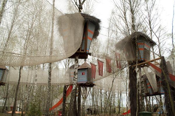 Система домиков на деревьях «Паук»