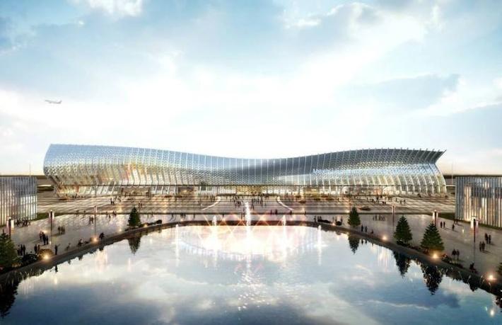 Площадь нового терминала составит более 78 тыс. кв. м. Фото с сайта Администрации города Симферополя simadm.ru