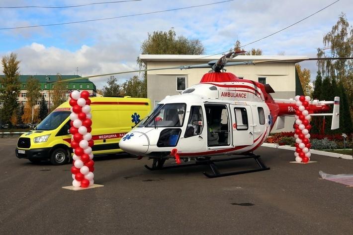 Первый российский серийный вертолет «Ансат» с медицинским модулем