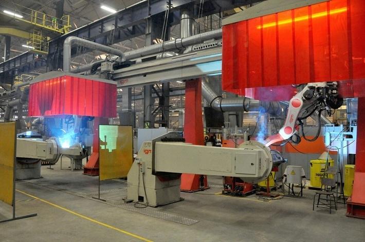 запущенный в 2017 г. в работу на БМЗ сварочный роботизированный комплекс