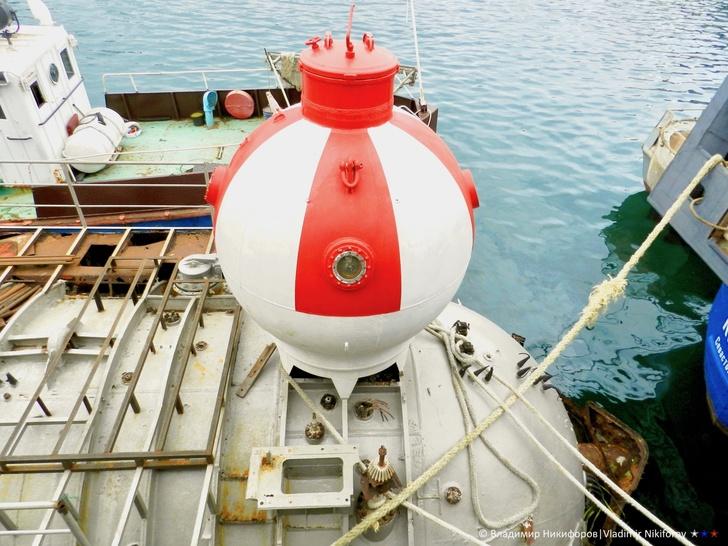 """Спасательная капсула """"Бентоса"""". Фото из архива В.Никифорова"""