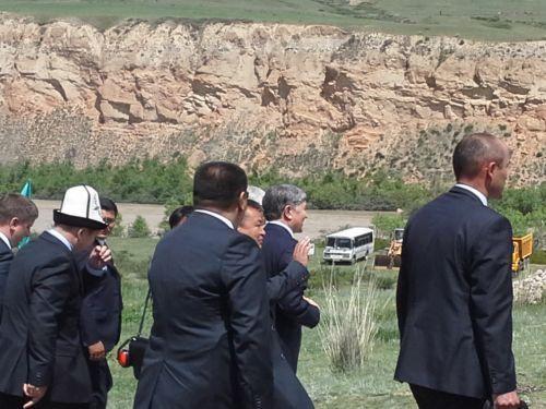 Церемония начала строительства Верхне-Нарынского каскада ГЭС