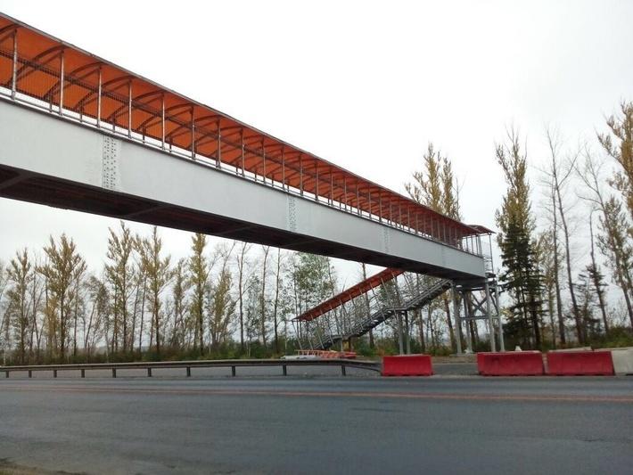 Надземный пешеходный переход на 305 км трассы М-7 «Волга»
