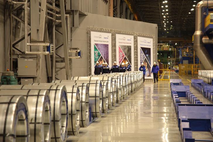 На ЧерМК в Вологодской области запущена третья линия по производству проката с полимерным покрытием