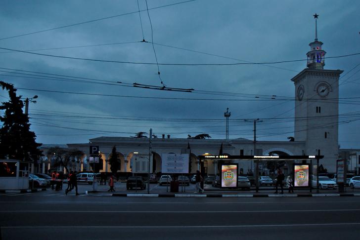Железнодорожный вокзал. Крым. Симферополь.
