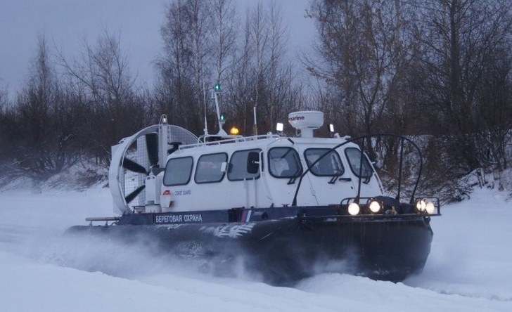 Новый катер на воздушной подушке заступил на службу по охране госграницы на севере Крыма