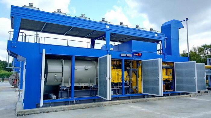 Одна из четырех компрессорных установок топливного газа