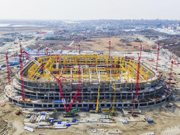 """Строительство стадиона """"Ростов-Арена"""""""