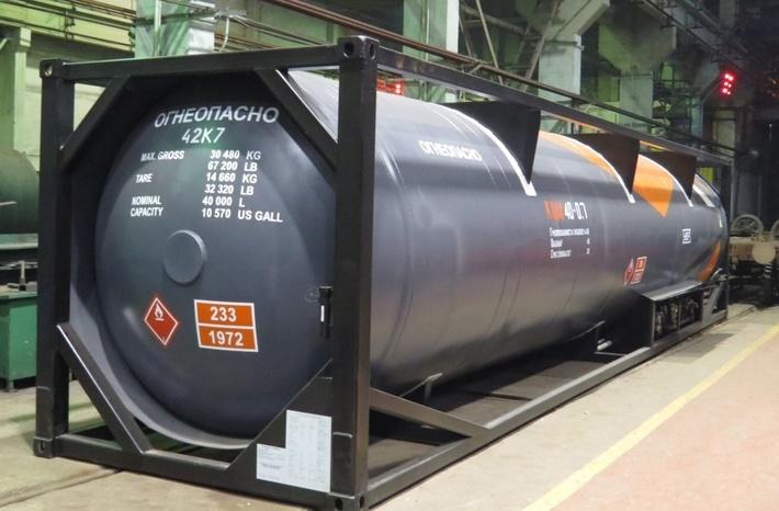 Уралвагонзавод представил новую модель криогенной цистерны для перевозки сжиженного газа и этилена