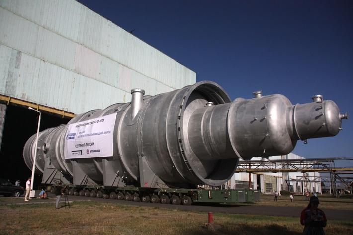 Волгодонский Атоммаш отгрузил колонну размером с ракету-носитель «Протон»
