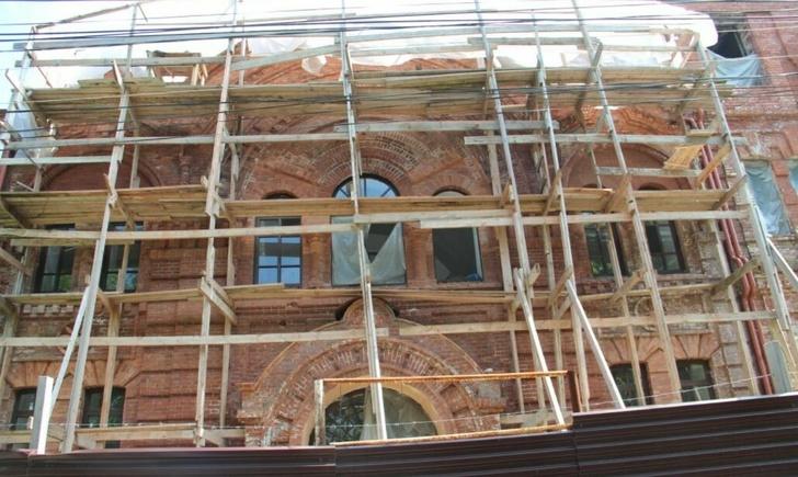 во время реставрационных работ