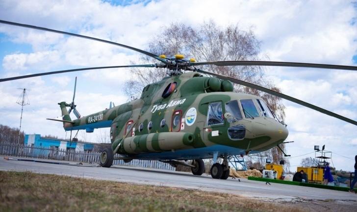первый Ми-8МТВ-1 RA-24130 авиакомпании «Тувинские авиалинии»