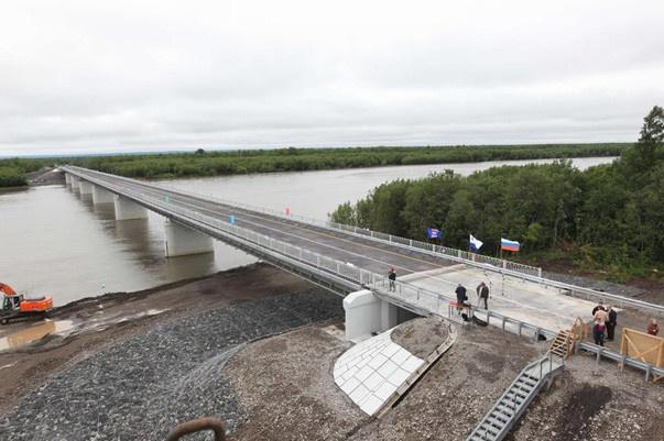 новый мост через реку Кирганик
