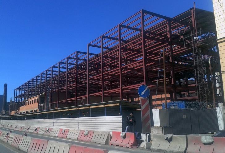 Строительство лабораторно-стендового корпуса Адмиралтейских верфей