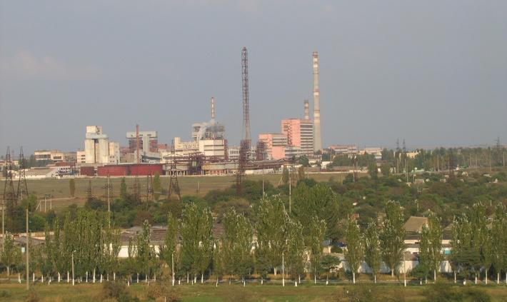 Вид на Крымский содовый завод