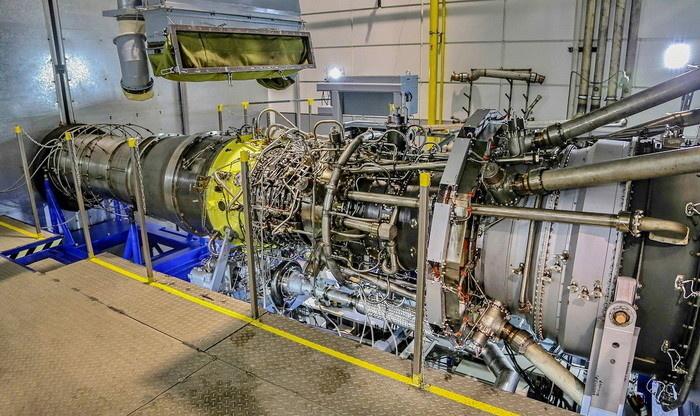 Тестирование газовой турбины мощностью 16 МВт на специальном испытательном стенде