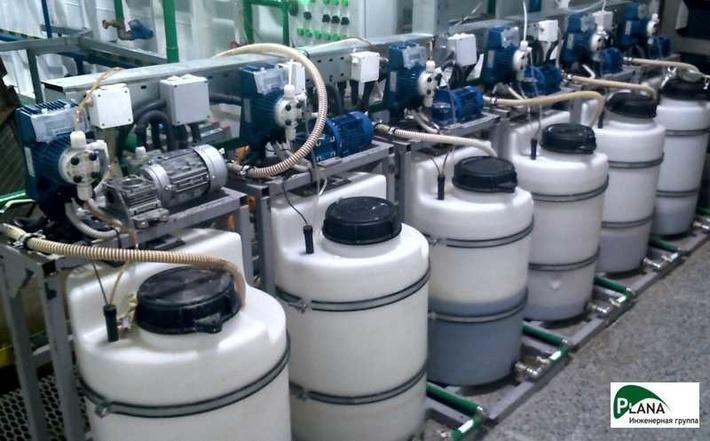 Участок реагентной обработки сточных вод