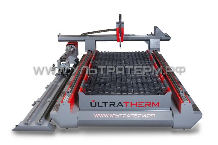 Портальный станок ULTRATHERM с труборезом (вид спереди)