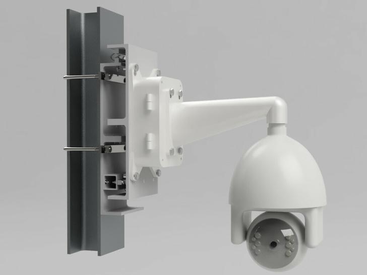 Пример установки поворотной IP-Камеры на ПМП-ВЗ, закрепленной на металлоконструкции (швеллере).