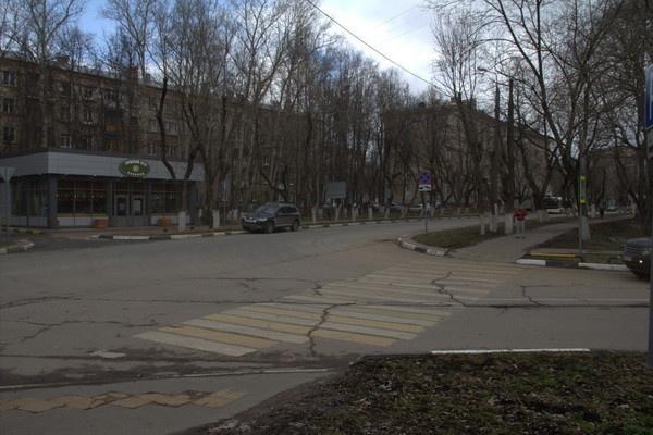 Химки, Ленинский проспект до установки знаков