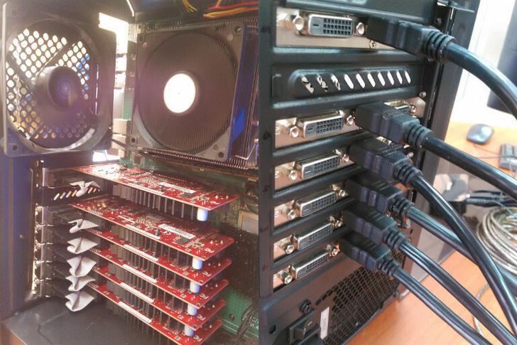 """E8C-ATX, """"Эльбрус-8С"""" и шесть видеокарт"""