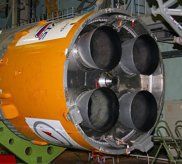 """Двигатель РД-0124 в составе III ступени РН """"Союз-2-1б"""""""