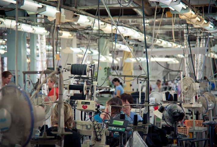 Цех ЗАО «Пеплос» Чебаркульская швейная фабрика