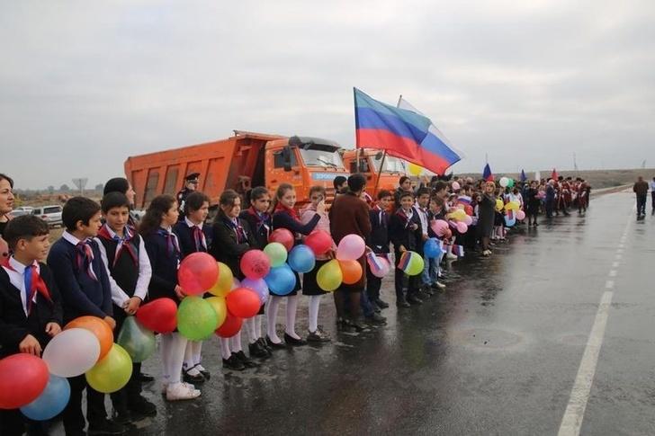 На юге Дагестана открыли участок дороги ведущий к границе с Азербайджаном