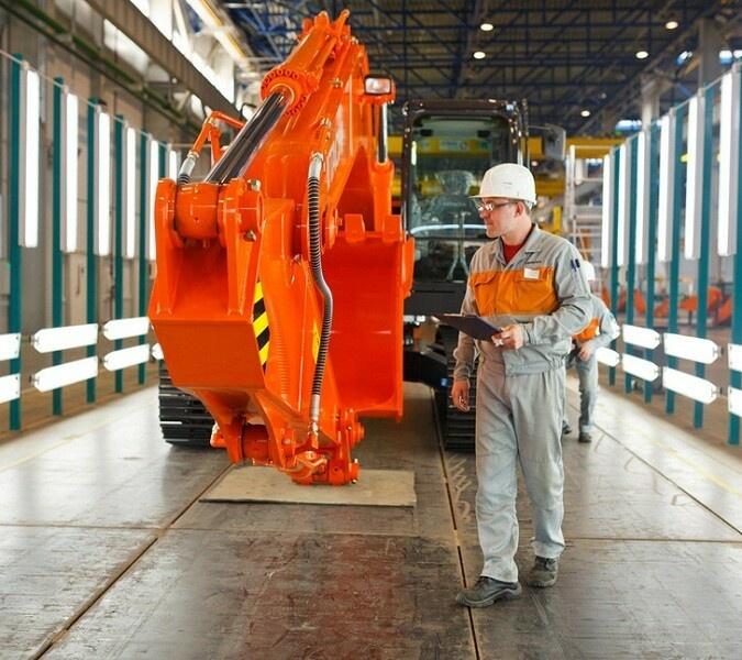 Завод экскаваторов Hitachi в Твери